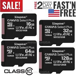 Kingston Micro SD Card 32GB 64GB 128GB Class 10 100MB/s TF Memory Card