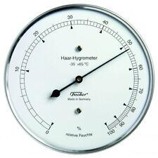 Fischer Echthaar Hygrometer Edelstahl Gehäuse Ø 103 mm Außenwetterstation