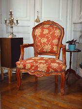 Bergère à la reine style Louis XV en bois de hêtre