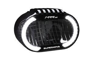 Supernova 45 km/h M99-PURE 6V DC, 500 Lumens, 230 Lux Front E-Bike Light Black