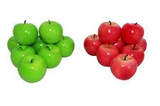 12 Deko Äpfel 5,5cm rot künstliche Früchte Obst Apfel Obstschale Erntedank