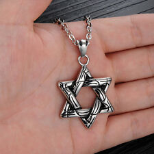 316L Stainless Steel Star of David Pendant Men's Casting Necklace New Fashion