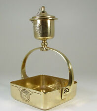 BEAUTIFUL WMF Arts & Crafts Hammered Brass Cigar Lamp