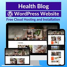 Health Blog Business Affiliate Website Store Free Hosting+Installation