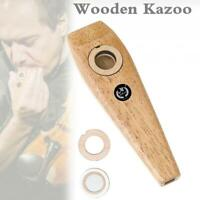 Wooden Mahogany Kazoo Orff Instruments for Flute Instrument Music Lovers