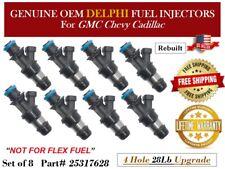 8x refurbished OEM Delphi fuel injectors for 2001-2006 GMC Sierra 2500 HD 6.0LV8