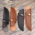Leather Folding Knives Sheath Cover Holder Belt Scabbard Hunting For Fixed Knife