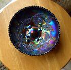Vintage DUGAN CHERRIES bowl multi-colour iridescent Dark Amethyst  Proof bowl?