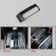 Carbon Fiber Color Gear Shift Frame Cover Decorator Trim For Honda Civic 16-17