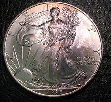 1996 Toned US Silver American Eagle $1 1 oz Bullion BU UNC Better Date Coin