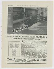 1927 American Well Works Advertisement: Santa Clara, California Water Station