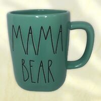 """**BRAND NEW** Rae Dunn """"MAMA BEAR"""" Teal Blue Ceramic Mug"""