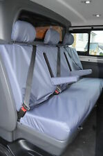 Renault Trafic Crew Van Business+ 2014+Tailored Front & Rear Grey Seat Covers
