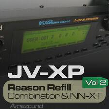 JV2080 + XP80 REASON REFILL 175 NNXT & COMBINATOR VOL2 1400 SAMPLES 24bit MAC PC