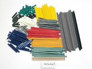 200 KNEX RODS Mixed Standard Replacement Parts Yellow Red Gray Black Tan K'NEX