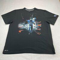 Nike Calvin Johnson #81 Detroit Lions Men's Dri-Fit Shirt XXL Black