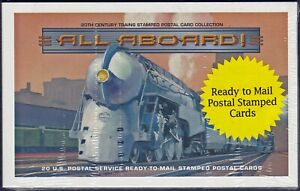 US - #UX311a - All Aboard - packet of 20, 20c postal cards - 1999 - 10045
