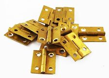 """1"""" & 1/2"""" High brass hinges clock case repairs parts clockmakers dolls house"""