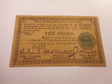 Philippines Emergency Currency Negros Occidental WWII Ten Pesos - Nice - # 45521