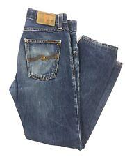 Men Nudie Slim Jim Cold Denim Jeans Low Rise Med Wash Cotton Blend sz W29 X L34*