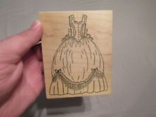 BEAUTIFUL DRESS WOOD MOUNTED RUBBER STAMP SCRAPBOOK ME & CARRIE LOU GREAT SHAPE