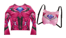 NEW Power Rangers Pink Deluxe Ranger Dress Up Set with Light Up Chest Armor
