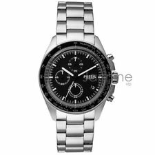 Fossil Authentic Watch Men's CH3026 Sport 54 Silver Stainless Steel 44mm Chrono