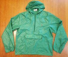 Vtg Izod Lacoste Mens Size M Nylon Anorak Windbreaker Jacket 1/2 Zip Pullover