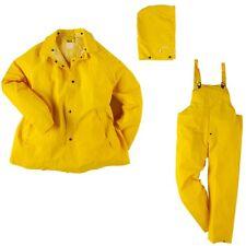 Neese Safety Yellow PVC Polyester 3 Piece Rain Suit Size Medium