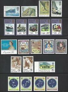 TRISTAN DA CUNHA 1980/86 Commemorative Sets (21) + 1 Single MNH