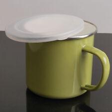 Enamel Cup Mug Drinking Water Coffee Beer Tea Retro Handmade Army Green Chic New