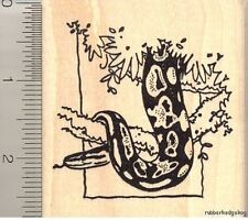 Ball Python Snake in Tree Rubber Stamp J11701 WM