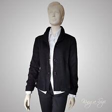 Strickjacke / Walk Cardigan / Jacke / Pullover - 100% Schurwolle Gr.42 schwarz