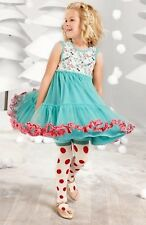 Matilda Jane MERRY MOOD Dress 4 Tulle Twirl Teal Girl's Once Upon A Time NWT