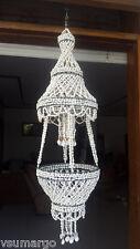 Nassa Sea Shell Plant Basket Chandelier (White)