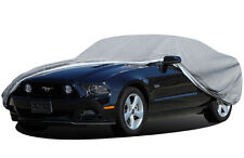 "Grey CAR COVER Outdoor For Ford Mustang 204"" L Water Resistant Fleece Lining"
