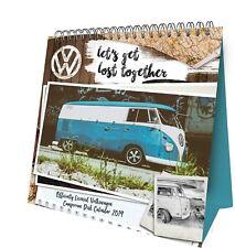 Official 2019 VW Camper Van Desk Easel Calendar Gift Present Table Flip Standing