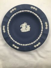 Vintage Blue Wedgwood Jasperware Ashtray Made in England Trinket Dish