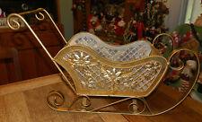 Gorgeous Gold Metal Large Christmas Sleigh! Elegant!