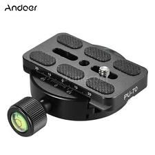 Andoer DSLR Tripod Monopod Head Quick Release Plate Clamp Adapter for Arca Swiss