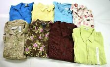 Wholesale Bulk Lot of 8 Womens Large Business Casual Button Front Blouses Tops