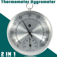 Wall Hanging Weather Station Temperature Humidity Thermometer Hygrometer Meter