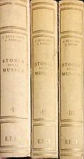 STORIA DELLA MUSICA - A. DELLA CORTE, G. PANNAIN - UTET, 1952 - 3 VOLL.