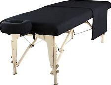 Mt Universal Massage Table Natural Cotton Flannel Sheet set 3 piece Black