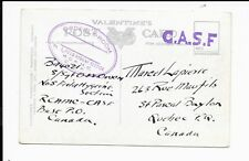 CANADA POSTCARD WWI? R.C.A.M.C   CASF
