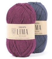 Wool and Alpaca Yarn DROPS Lima, 31 colors,  DK / Light worsted 50 g 100 m