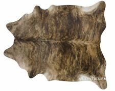 Brindle Brazilian Cowhide Rug Cow Hide Area Rugs Skin Leather Size LARGE
