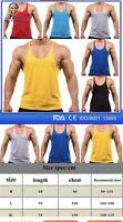 USA Mens Gym Bodybuilding Muscle Fit Stringer Tank Tops Racer-back T-Shirt Vest