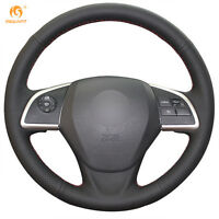 1 set DIY Leather Steering Wheel Cover for Mitsubishi Outlander Mirage ASX 2014
