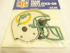 "Vintage Miami Dolphins NFL Team Vinyl Stick-On by Skore W-4""x 3""-H #20409  NEW"
